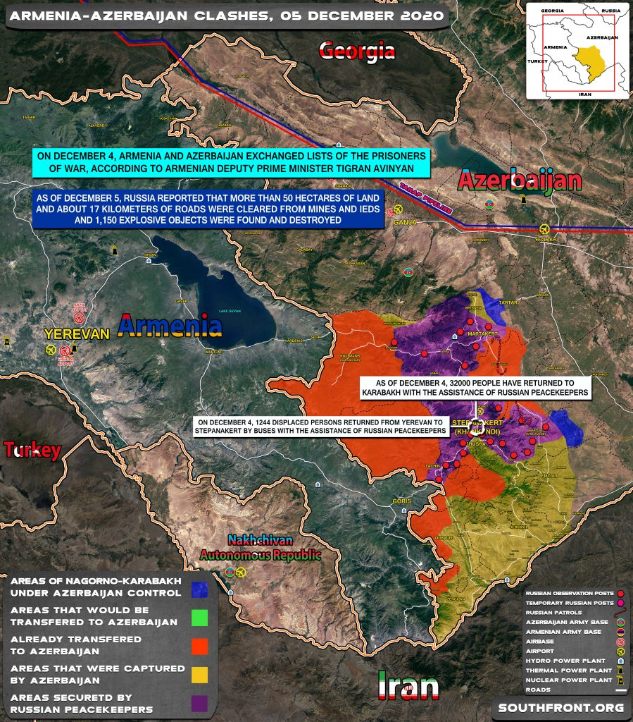 Map Update: Military Situation In Nagorno-Karabakh On December 5, 2020
