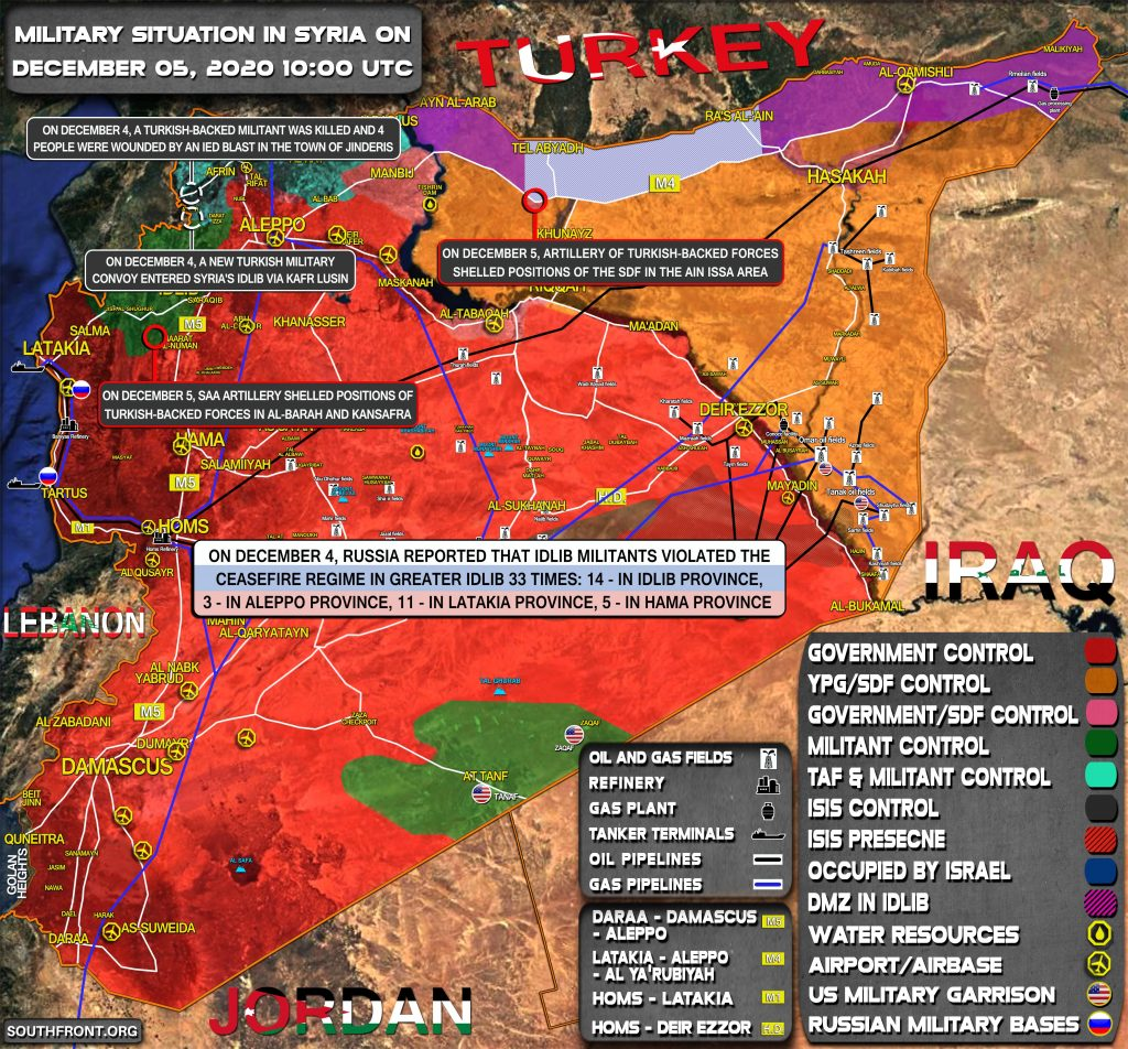 Military Situation In Syria On December 5, 2020 (Map Update)