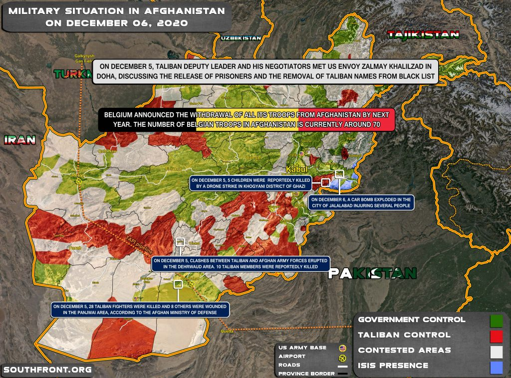 Military Situation In Afghanistan On December 6, 2020 (Map Update)