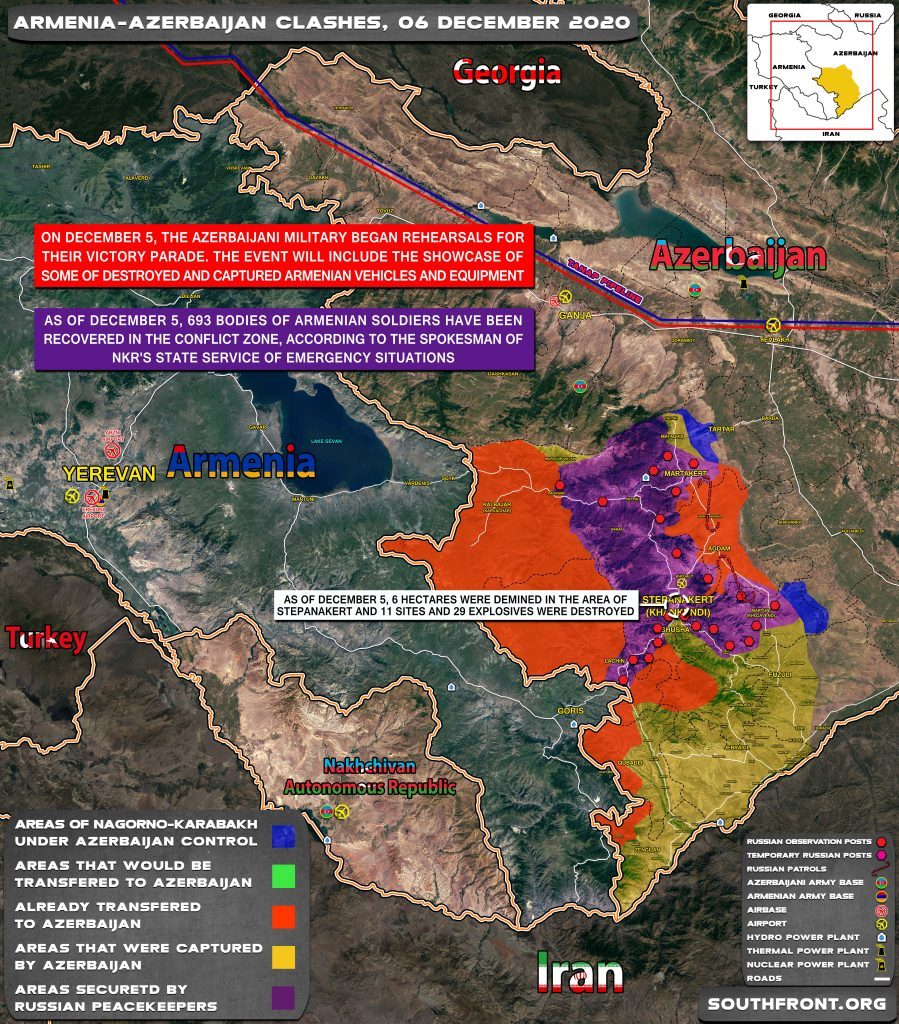 Map Update: Military Situation In Nagorno-Karabakh On December 6, 2020