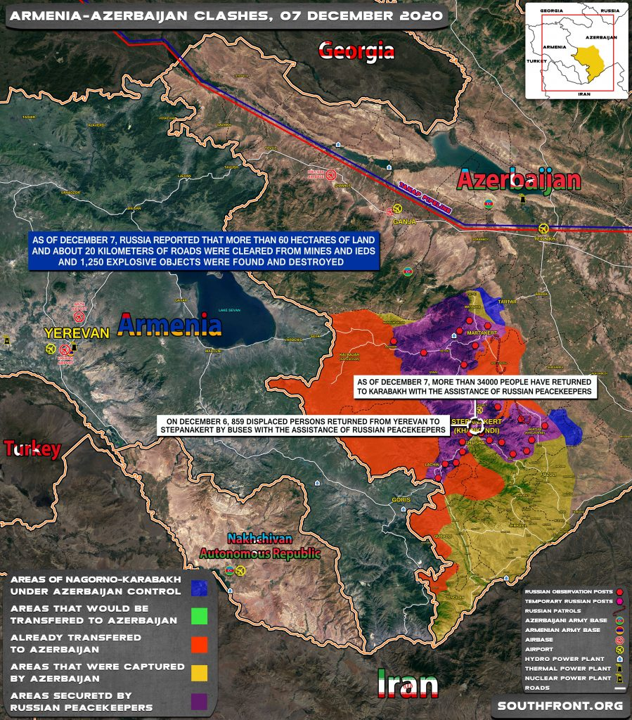 Map Update: Military Situation In Nagorno-Karabakh On December 7, 2020