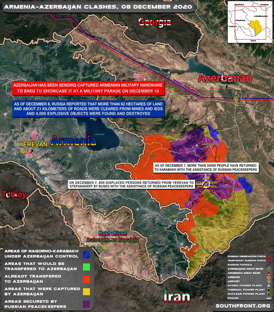 Map Update: Military Situation In Nagorno-Karabakh On December 8, 2020