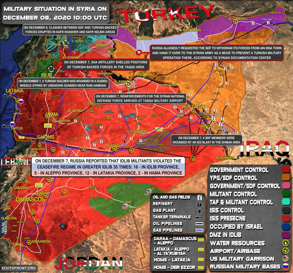 Military Situation In Syria On December 8, 2020 (Map Update)
