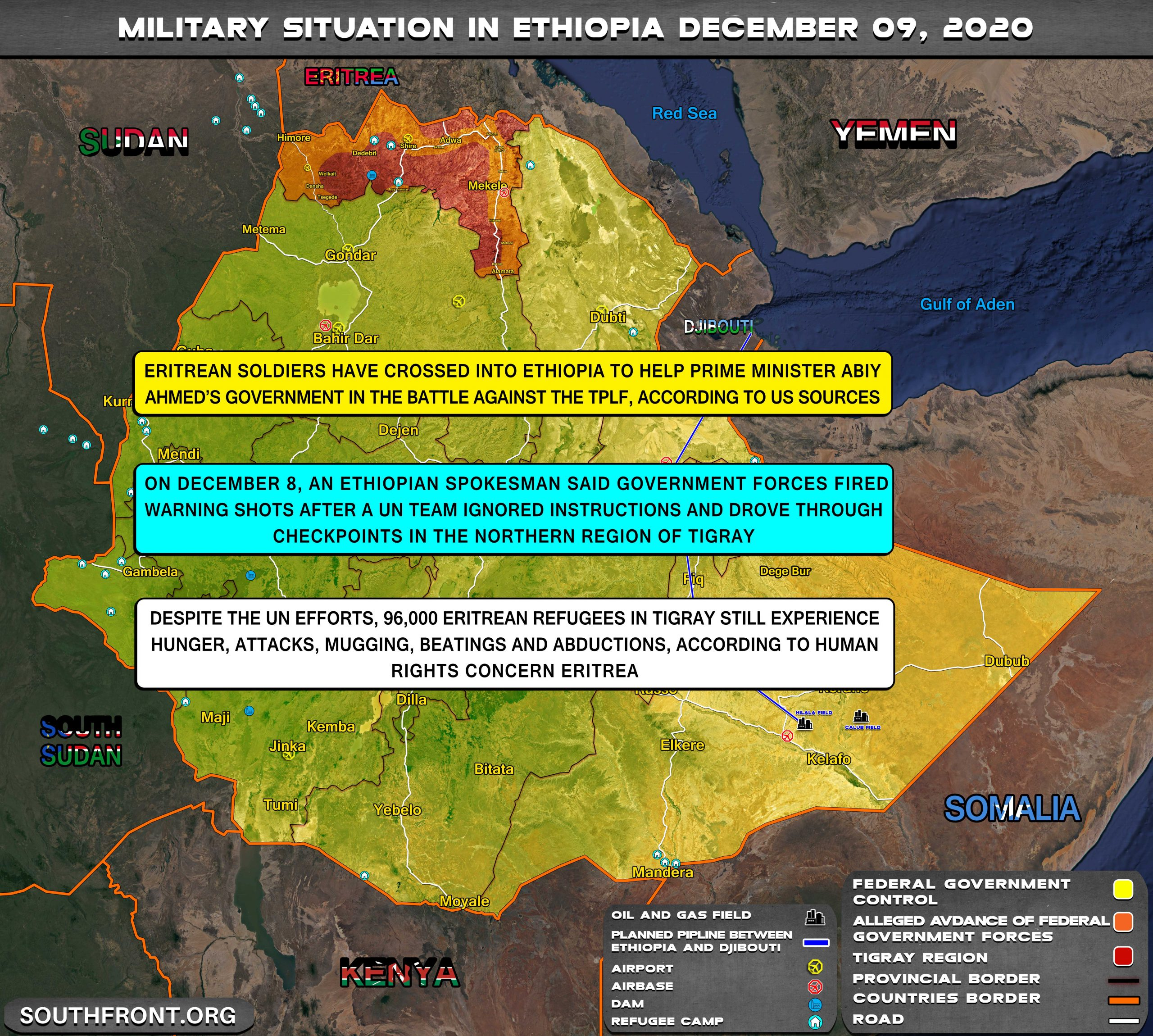 Eritrean Armed Forces Entered Civil War In Ethiopia