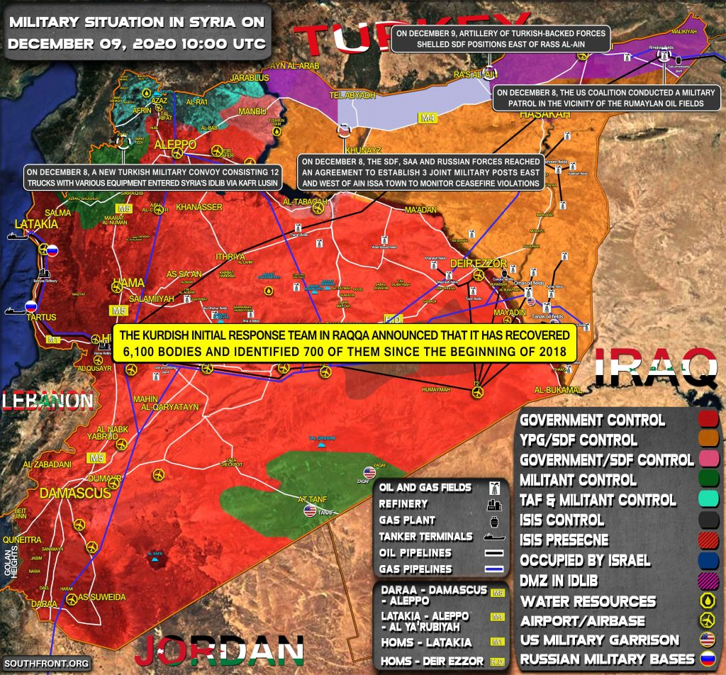 Military Situation In Syria On December 9, 2020 (Map Update)