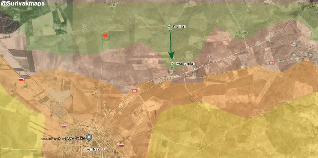 Turkish-Backed Militants Advance On Ain Issa In Syrian Raqqa Countryside