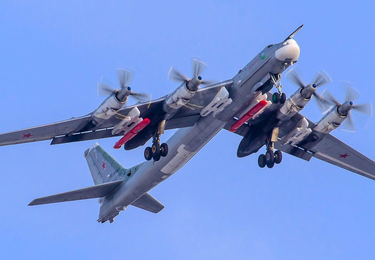 Crew Of Russian Tu-95MS Strategic Bomber Successfully Control Drones During Flight