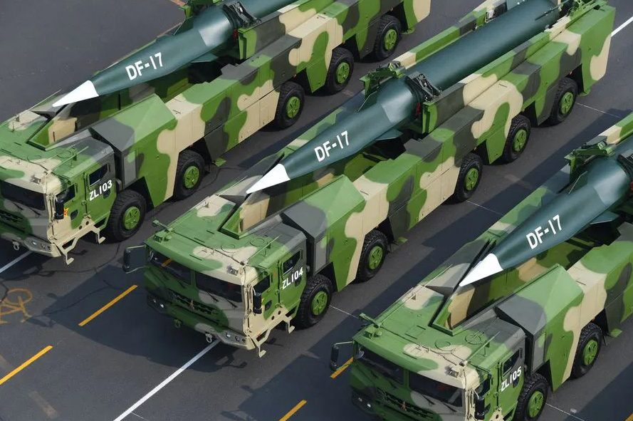 China's Dongfeng-17 Medium-Range Ballistic Missile With Hypersonic Glide Vehicle (Infographics)