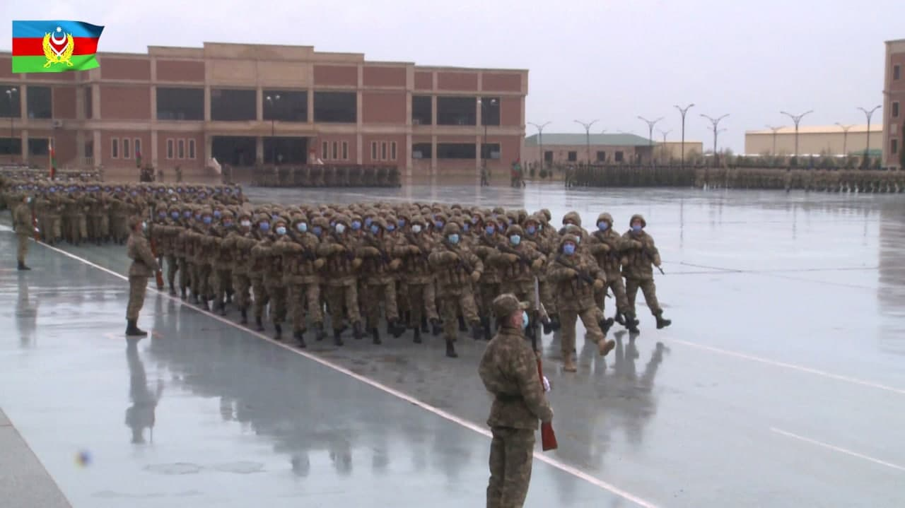 Azerbaijan's Troops Practice Victory Parade, Armenia's Citizens Attempt To Practice Their Civil Right To Protest