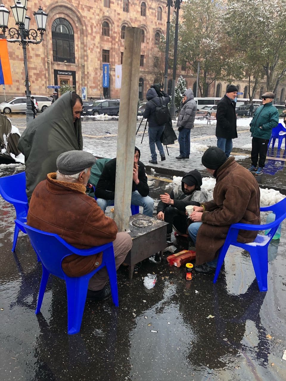 Tents In Front Of Armenian Parliament, As More Videos Of Alleged Azerbaijan Brutality Surface