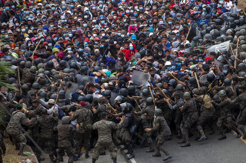 Migrant Caravan From Honduras Blocked And Forcibly Dispersed In Guatemala, Smaller Groups Continue Northwards