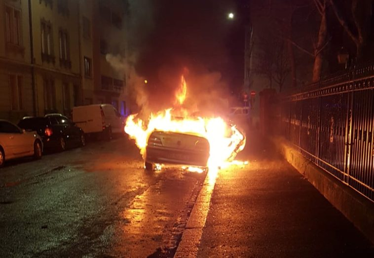 New Year's Celebrations French Style: Burning At Least 60 Cars In Strasbourg Riot