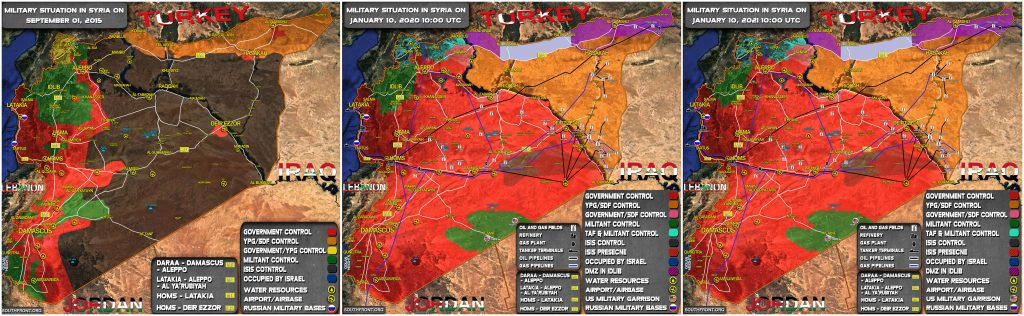 Map Comparison: Military Situation In Syria In 2015 And 2021