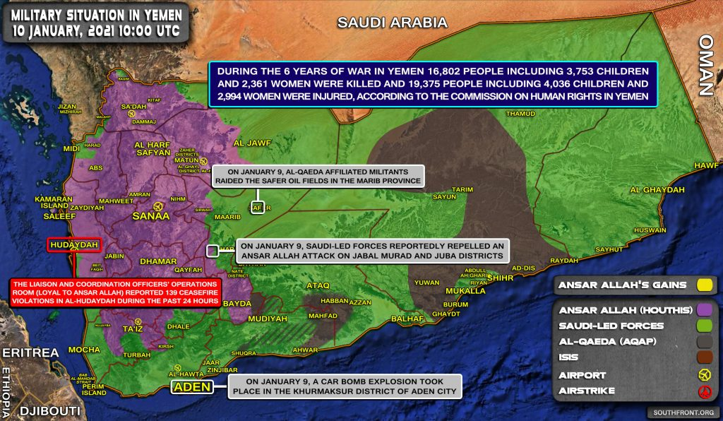 Saudi Proxies Repelled Houthi Attack In Yemeni Province Of Marib (Map Update)