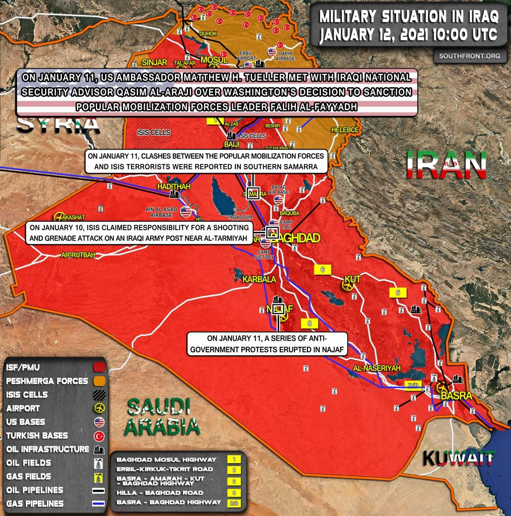 Military Situation In Iraq On January 12, 2021 (Map Update)