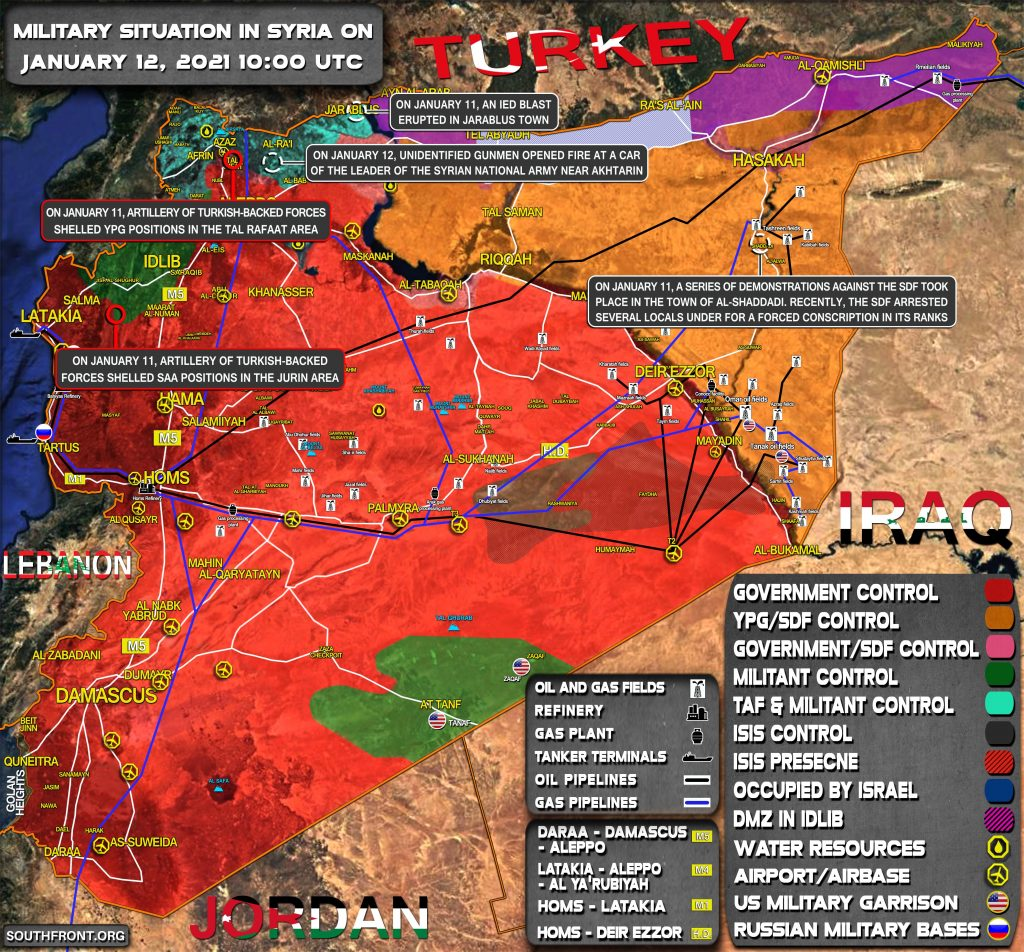 Military Situation In Syria On January 12, 2021 (Map Update)