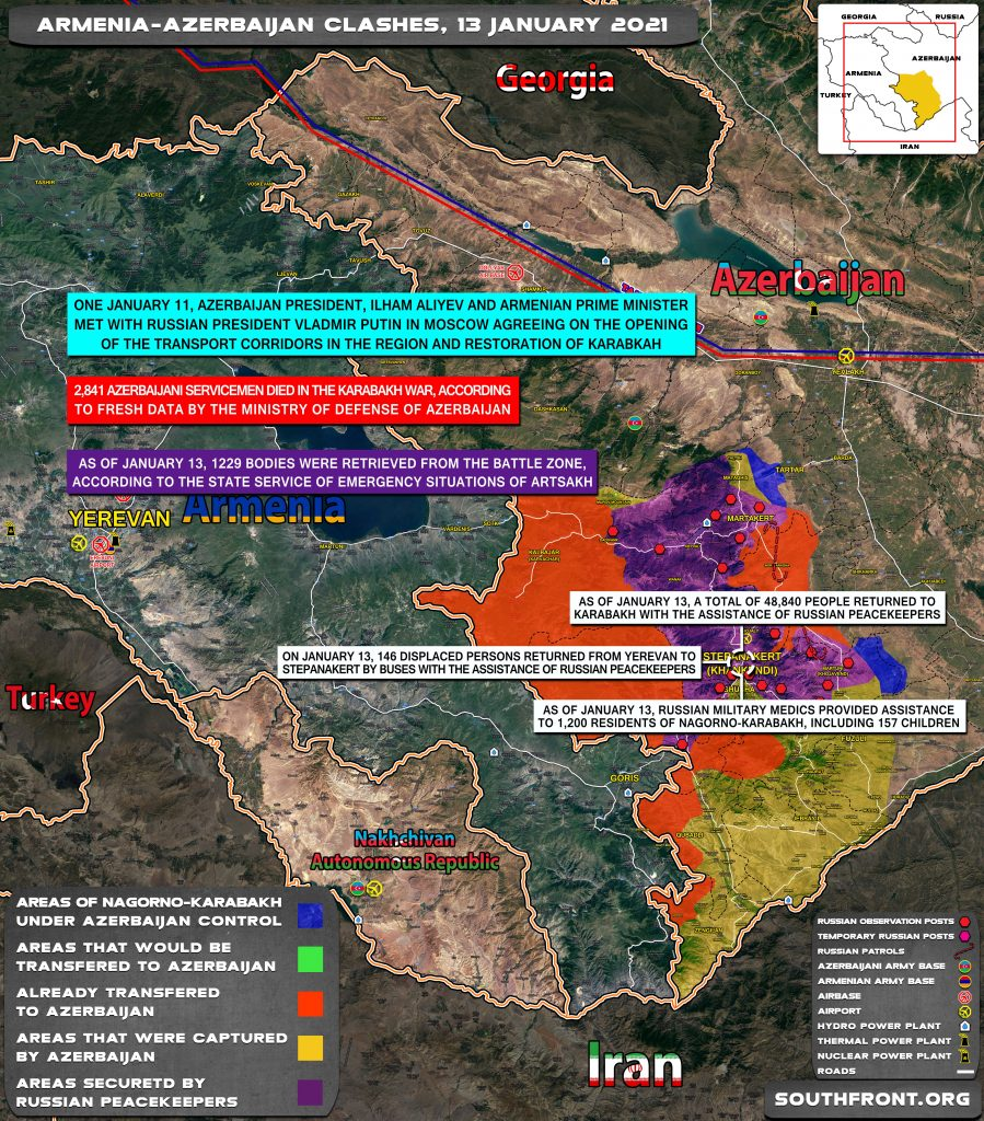 In Maps: Transport Corridors And Military Situation In Nagorno-Karabakh Region