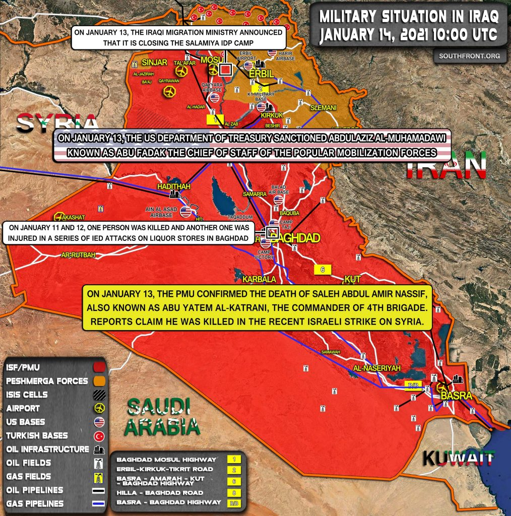 Military Situation In Iraq On January 14, 2021 (Map Update)