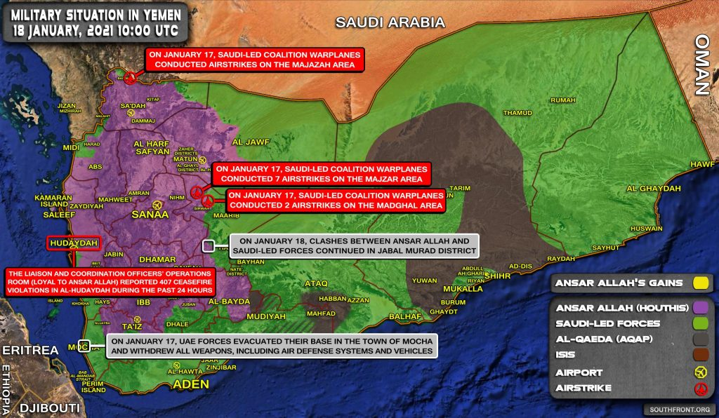 UAE Forces Evacuate Base In Southern Yemen Amid Houthis' Advances On Frontline (Map Update)