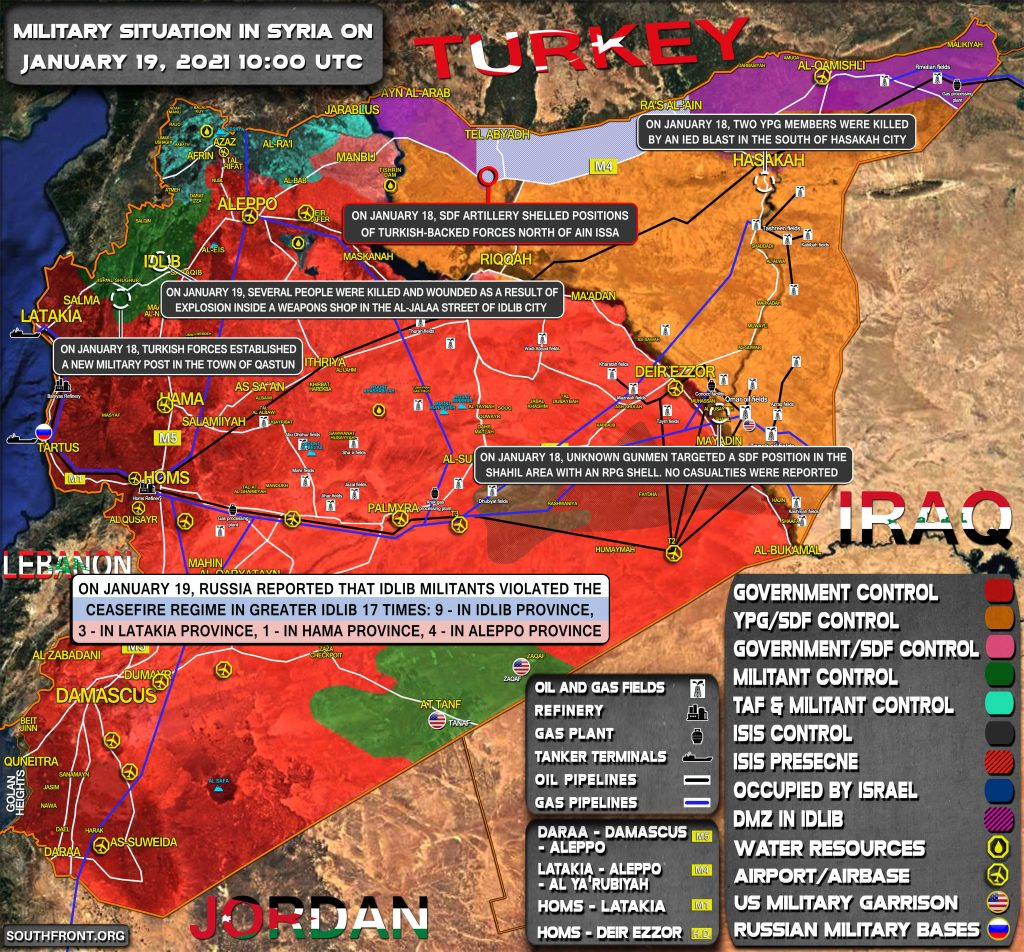 Military Situation In Syria On January 19, 2021 (Map Update)