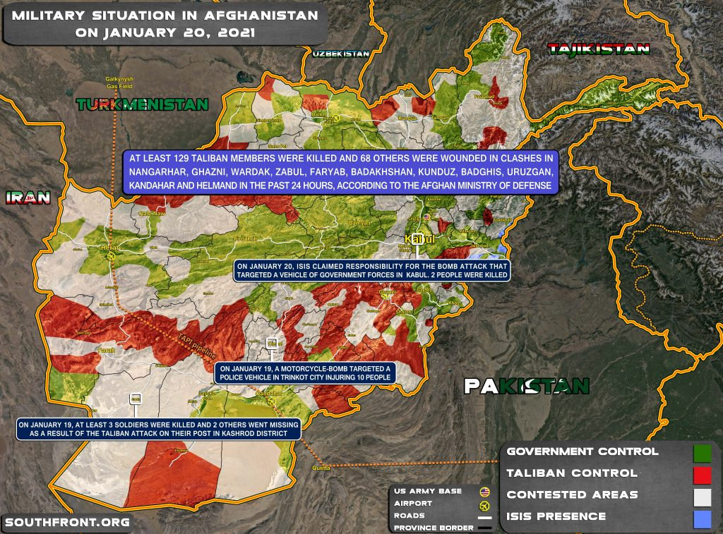 Military Situation In Afghanistan On January 20, 2021 (Map Update)