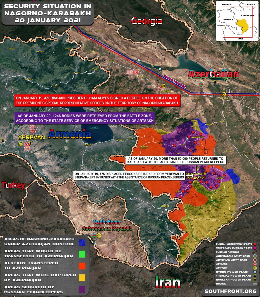 Security Situation In Nagorno-Karabakh On January 20, 2021 (Map Update)
