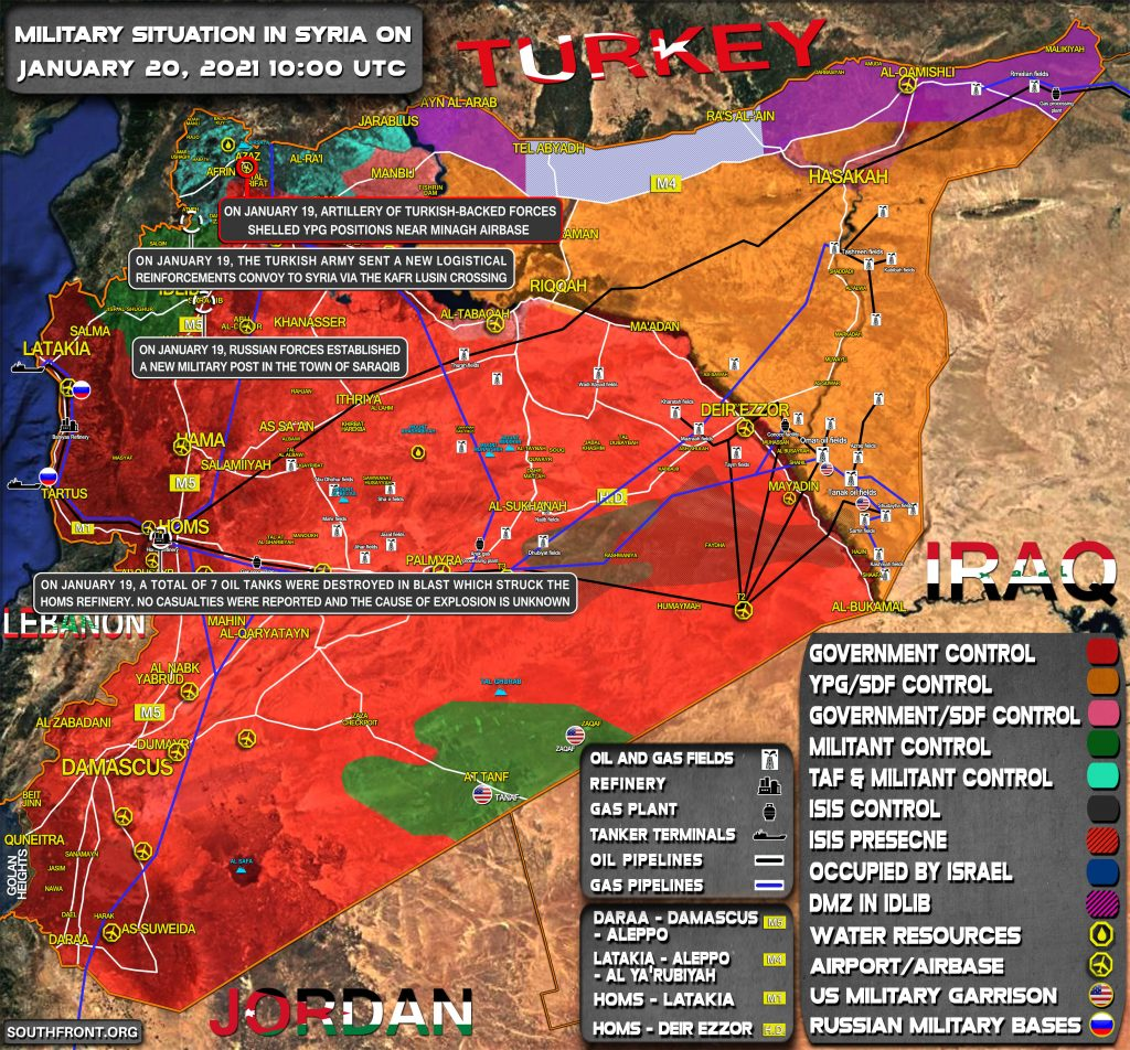 Military Situation In Syria On January 20, 2021 (Map Update)