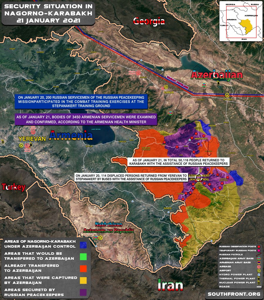 Over 50,000 Civilians Returned To Nagorno-Karabakh Under Protection Of Russian Peacekeepers (Map)