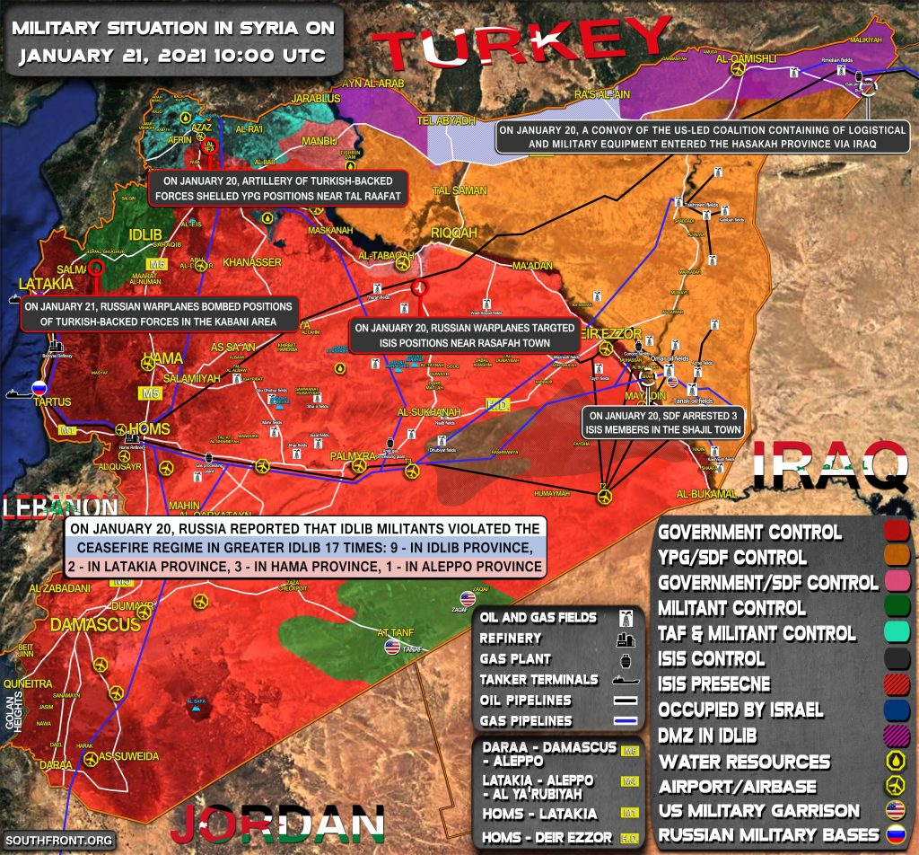 Military Situation In Syria On January 21, 2021 (Map Update)