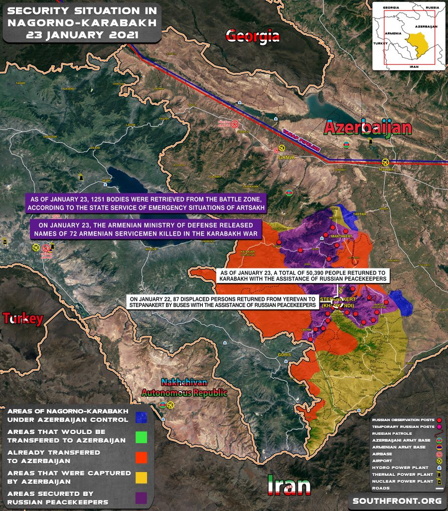 Security Situation In Nagorno-Karabakh On January 23, 2021 (Map Update)
