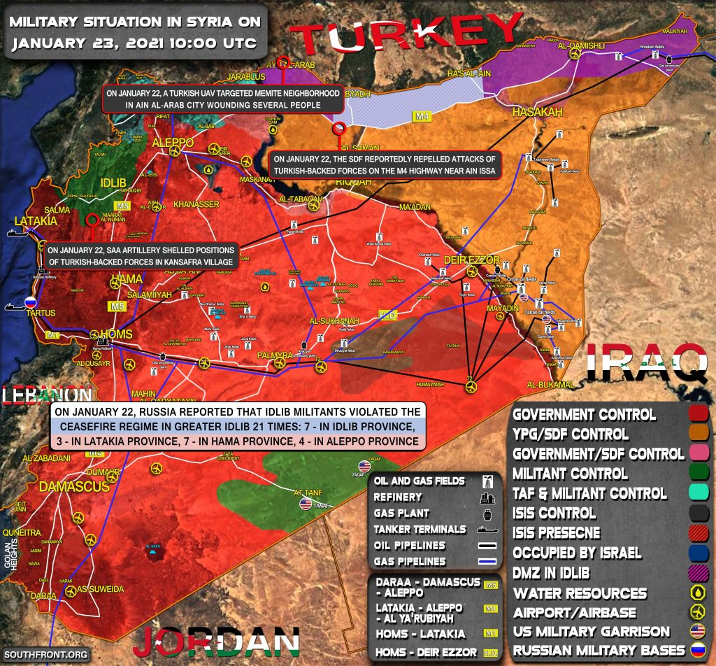 Military Situation In Syria On January 23, 2021 (Map Update)