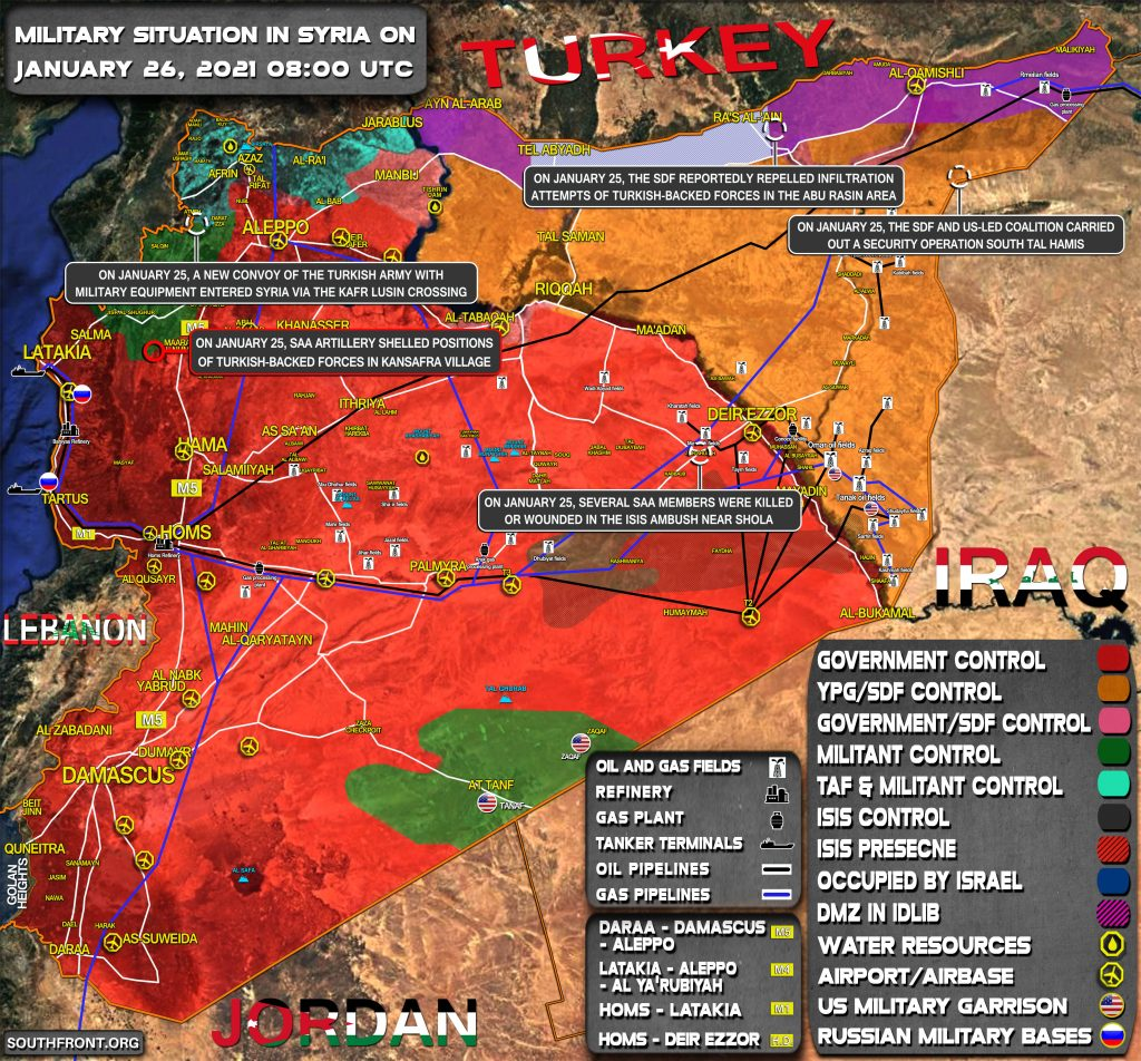 Military Situation In Syria On January 26, 2021 (Map Update)
