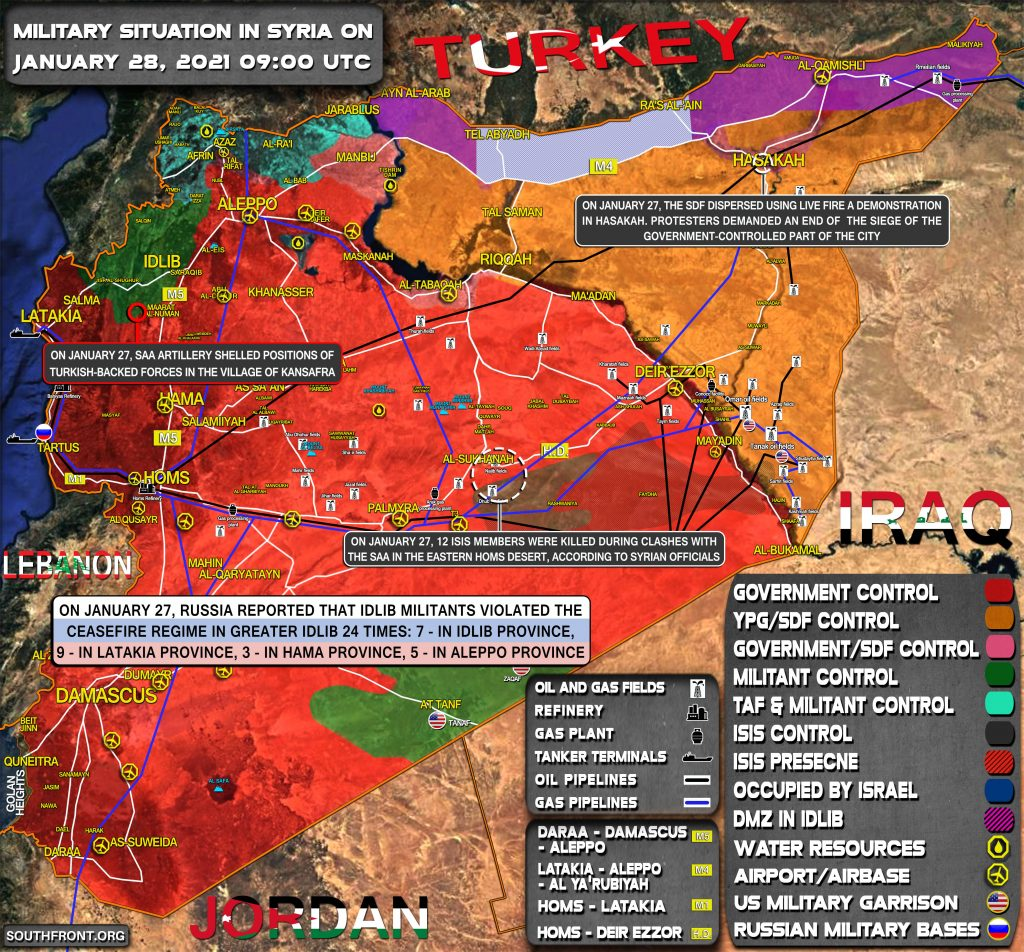 Military Situation In Syria On January 28, 2021 (Map Update)