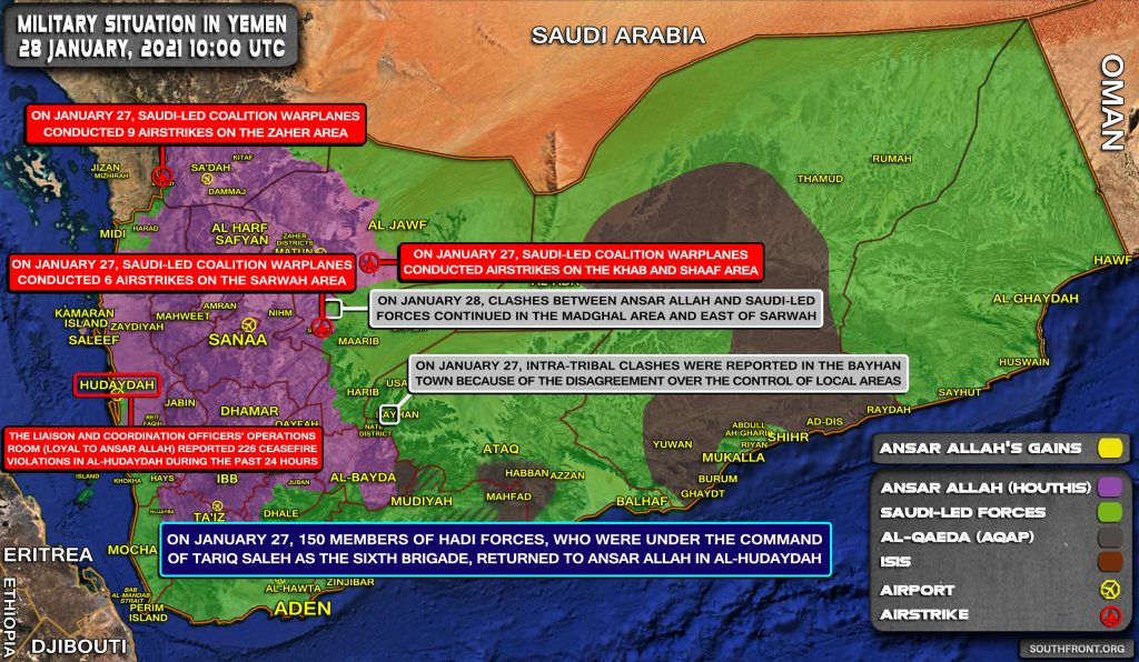 At Least 150 Members Of Saudi-Backed Forces Defected To Houthis In Yemen (Map Update)