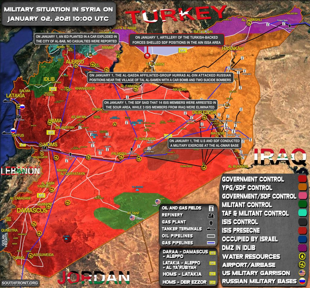 Military Situation In Syria On January 2, 2021 (Map Update)