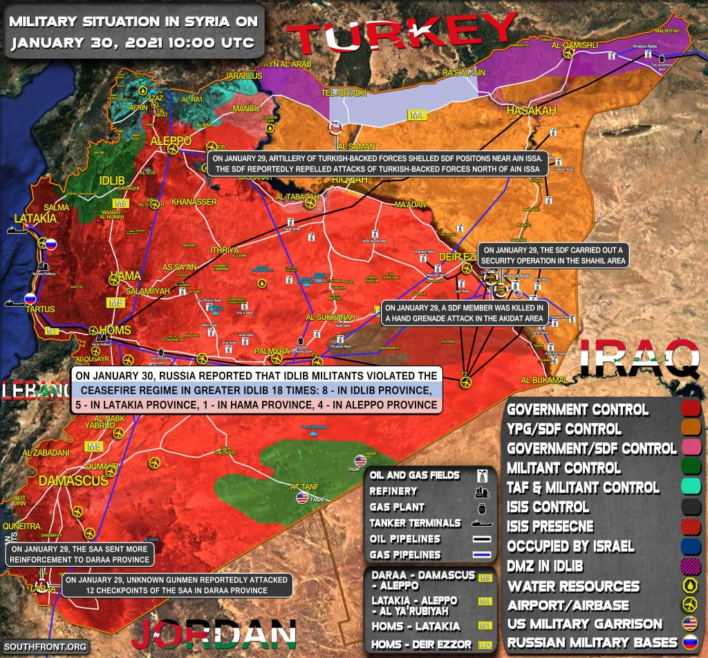 Military Situation In Syria On January 30, 2021 (Map Update)