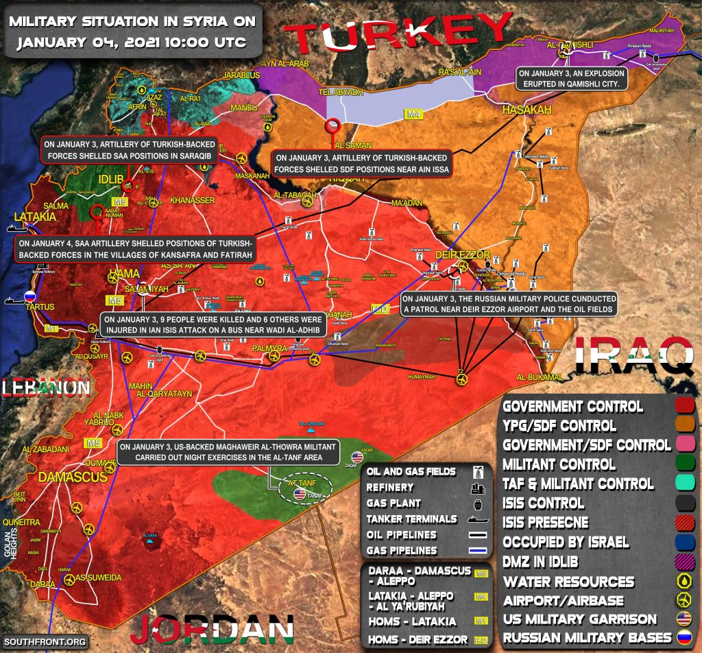 Military Situation In Syria On January 4, 2021 (Map Update)
