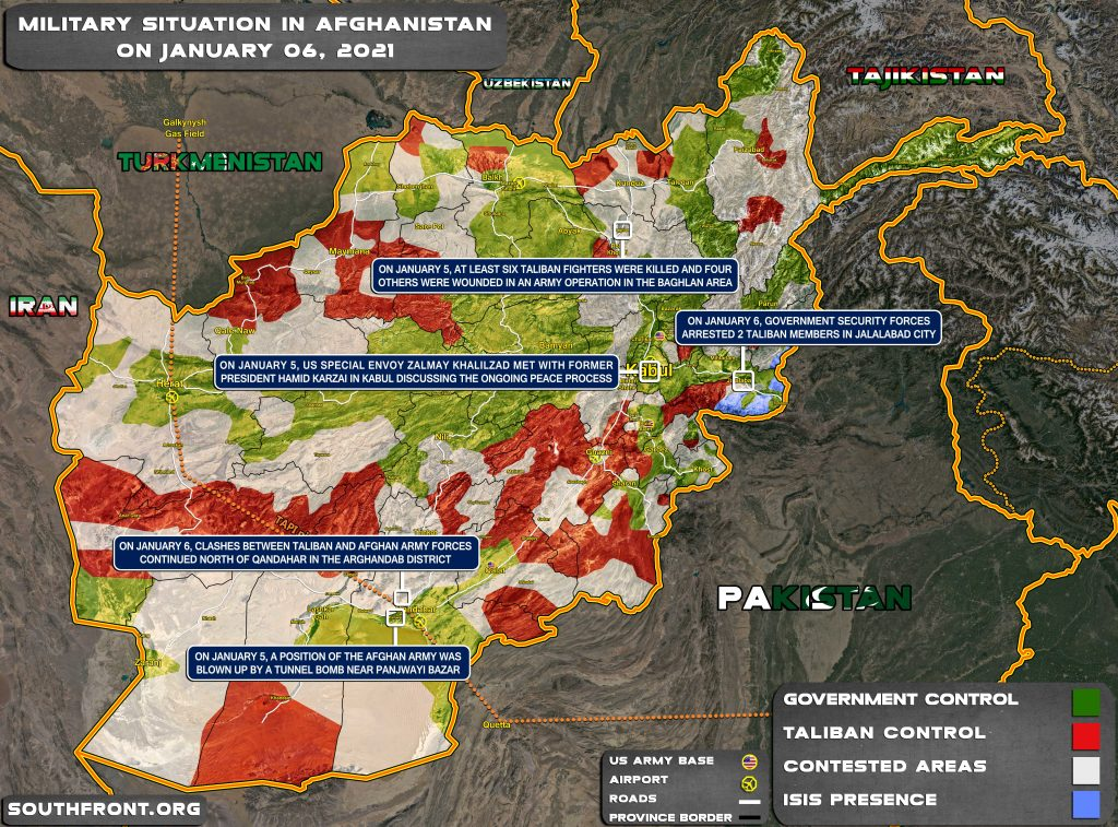 Military Situation In Afghanistan On January 6, 2021 (Map Update)