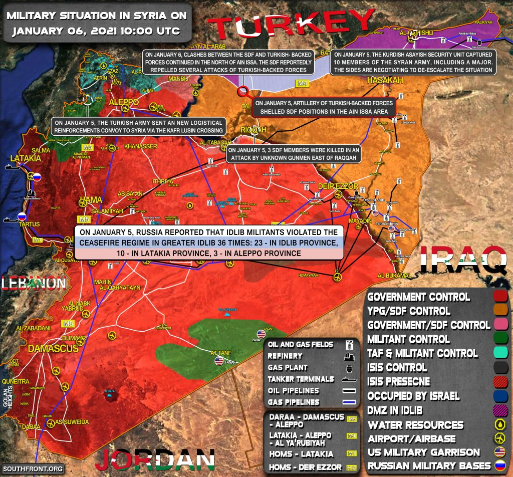 Military Situation In Syria On January 6, 2021 (Map Update)