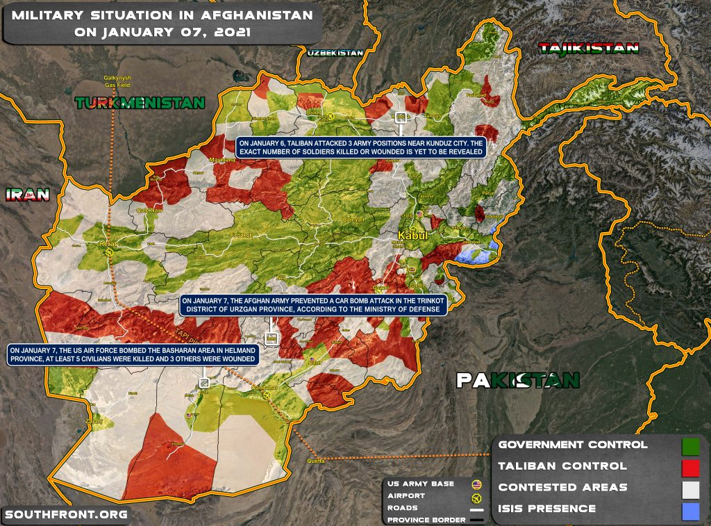 Military Situation In Afghanistan On January 7, 2021 (Map Update)