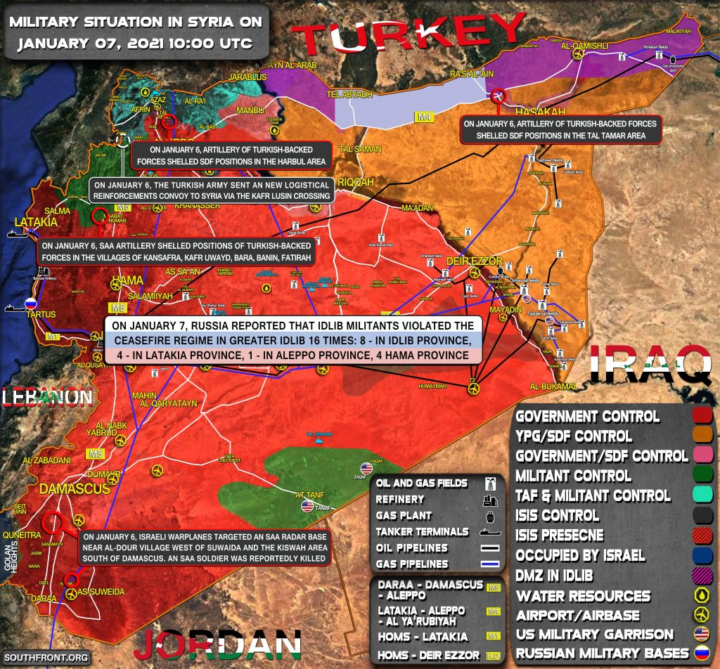 Military Situation In Syria On January 7, 2021 (Map Update)
