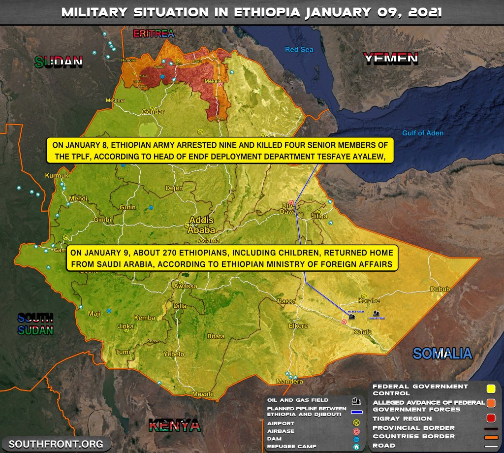 Ethiopia Arrested 9, Killed 4 Top Members Of Tigray Rebels