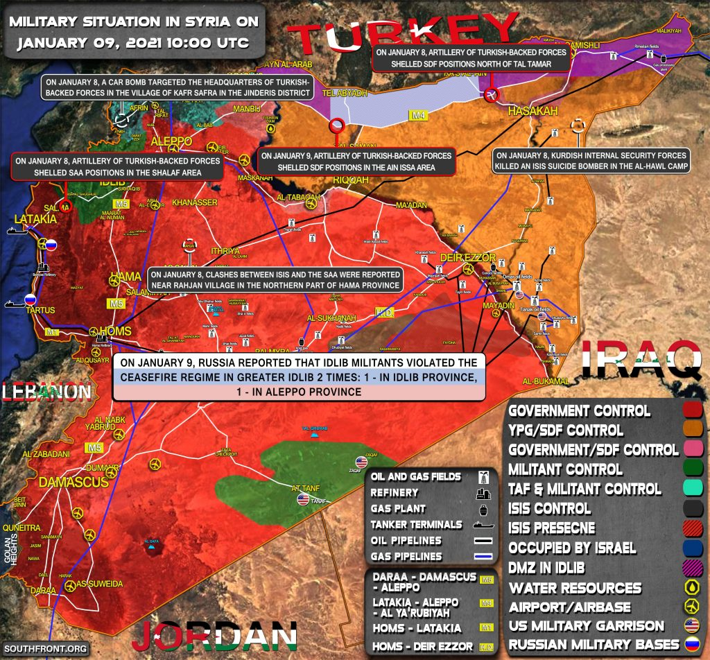 Military Situation In Syria On January 9, 2021 (Map Update)