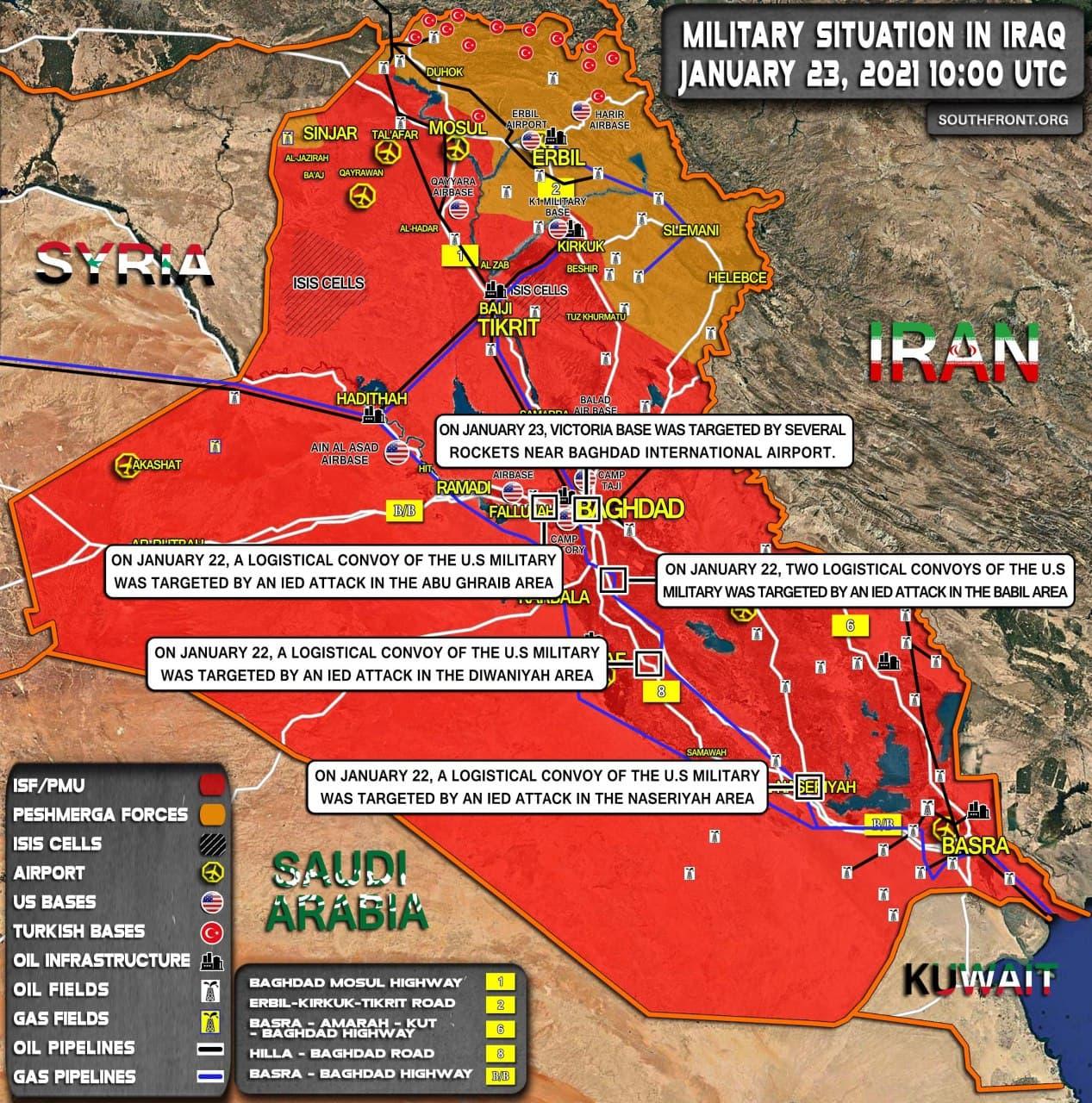 Después de atacar a los convoyes de suministros de la coalición, el grupo de 'resistencia' iraquí amenaza a las tropas estadounidenses