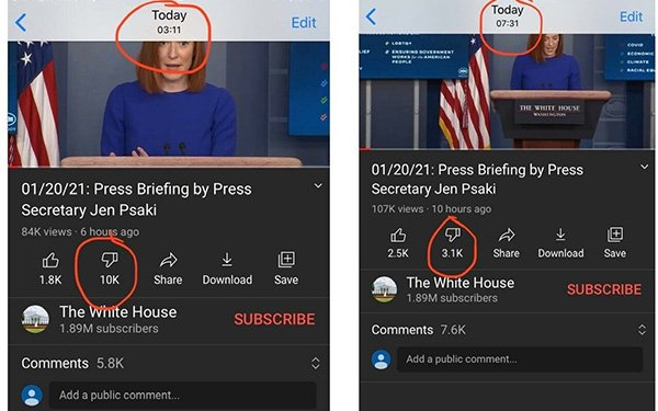 'No Manipulation': Biden Administration Gets An Artificial Boost In Popularity From YouTube