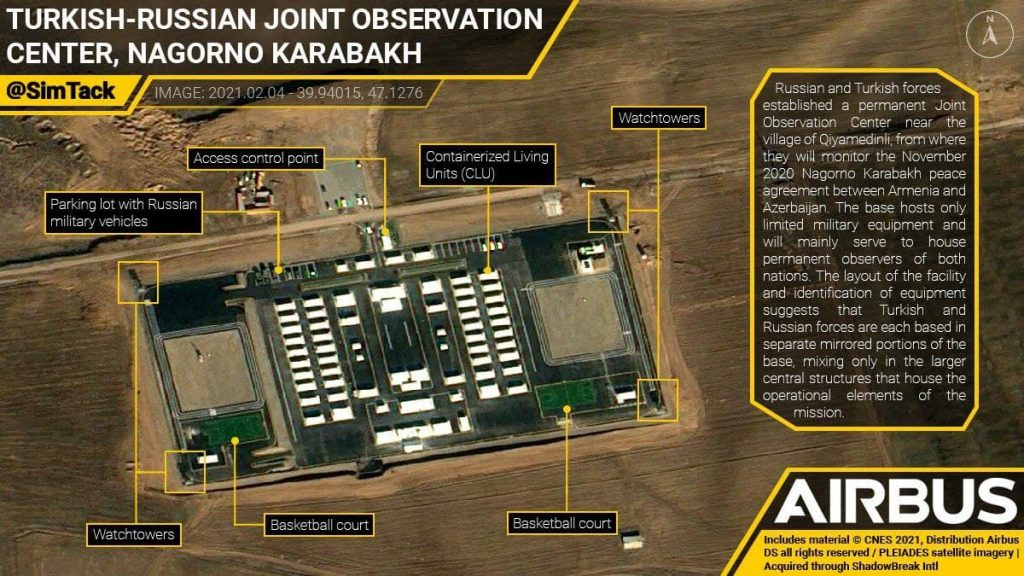 Satellite Image Shows Joint Russian-Turkish Center To Monitor Ceasefire In Nagorno-Karabakh