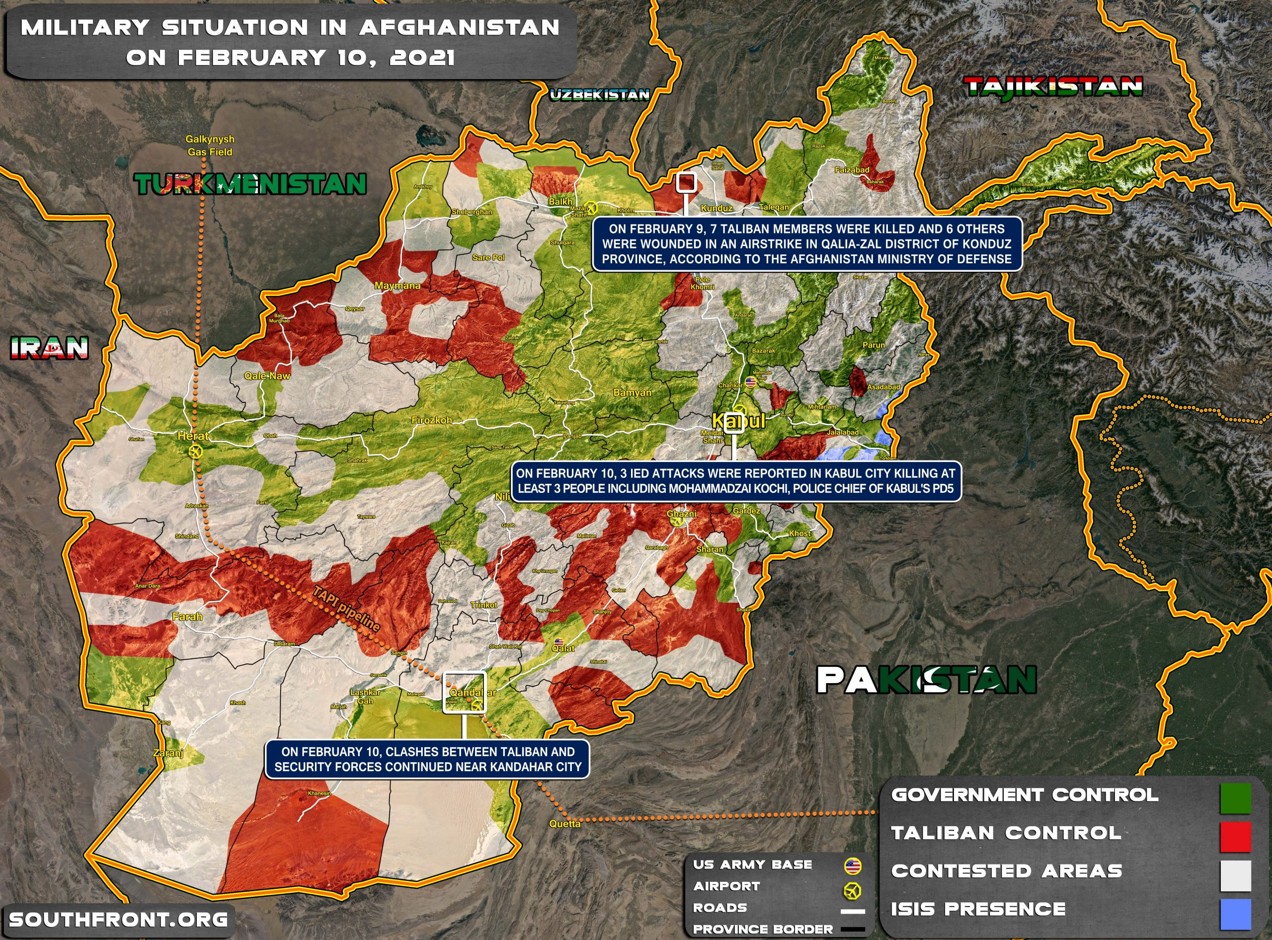 U.S. Wants To Stay: Alleged ISIS Resurgence In Afghanistan (Map Update)