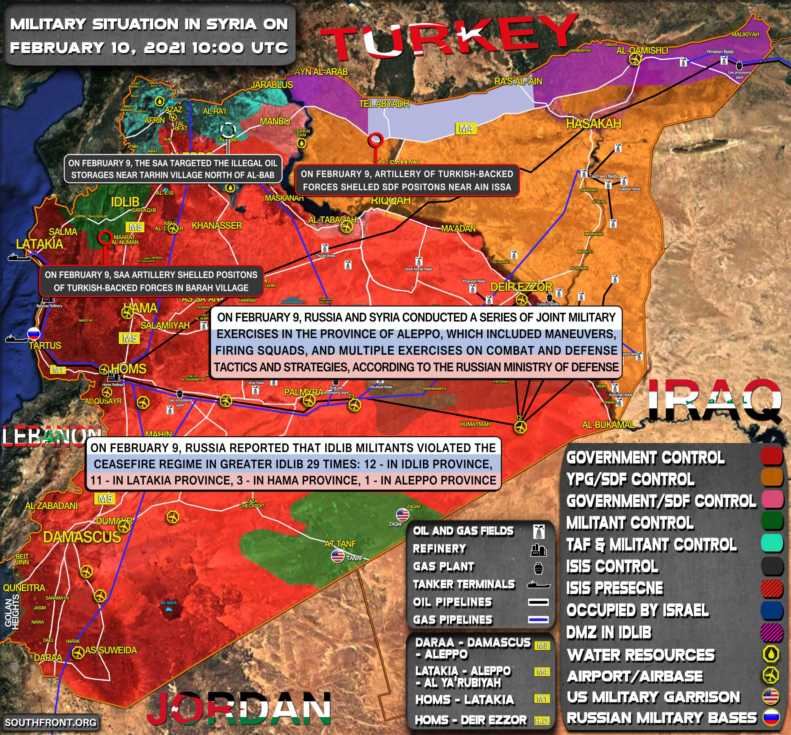 Military Situation In Syria On February 10, 2021 (Map Update)
