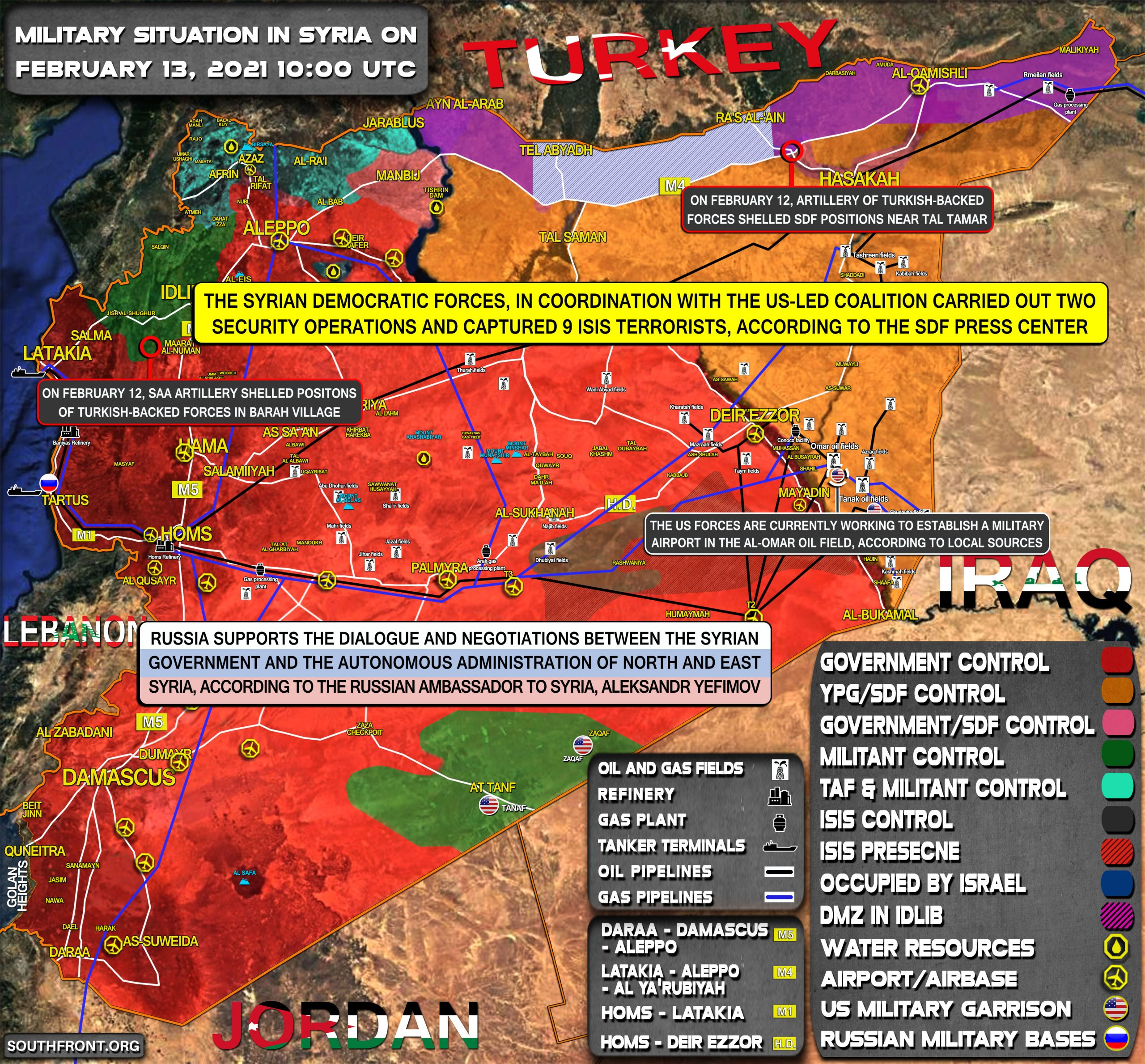 Military Situation In Syria On February 13, 2021 (Map Update)