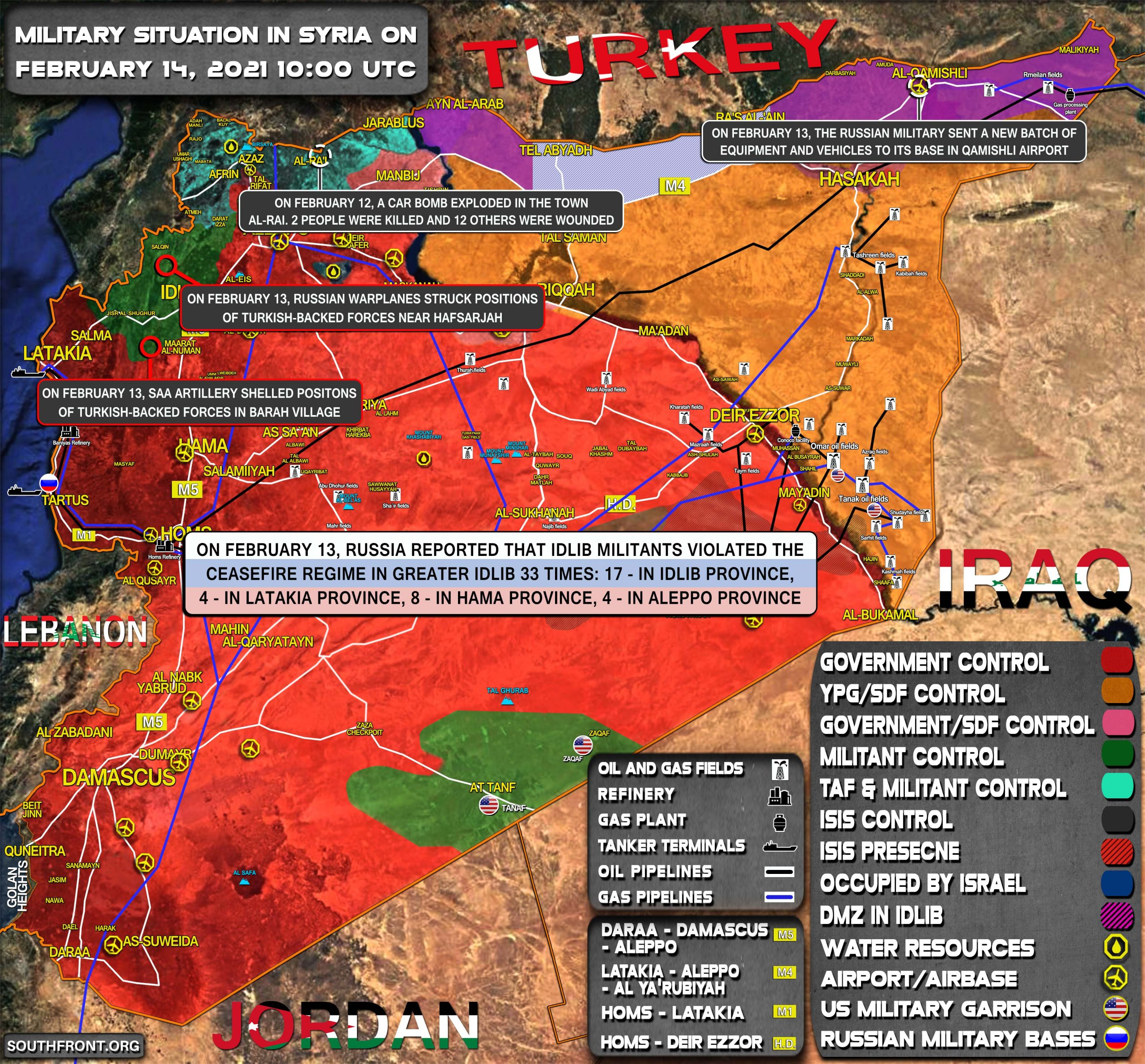 Military Situation In Syria On February 14, 2021 (Map Update)